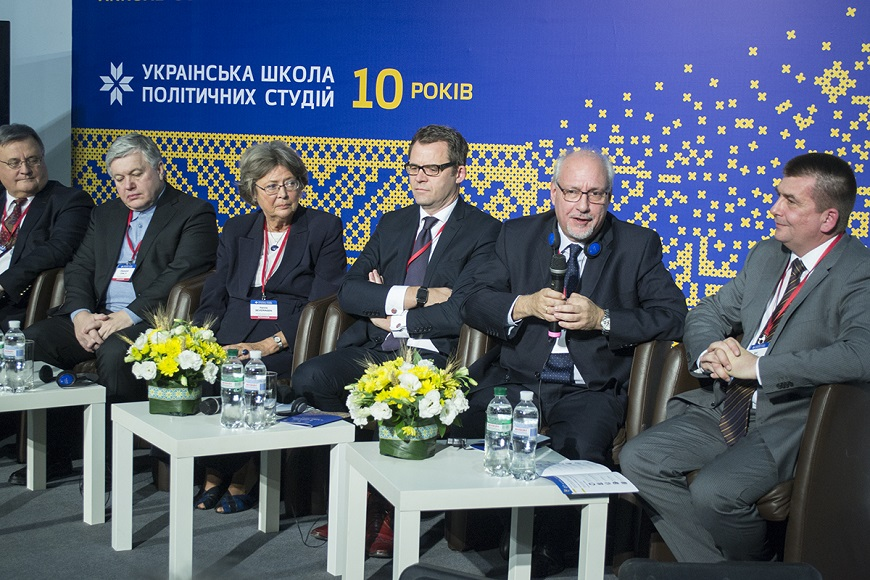 "On 27-28 November the Special Adviser for Ukraine Christos GIAKOUMOPOULOS participated at the Tenth Anniversary of the Ukrainian School of Political Studies. This Scholl is a joint project of the ""Laboratory of legislative initiatives"" and the Council of Europe, which was founded in 2005 on the occasion of the 10th anniversary of the Ukraine's accession to the Council of Europe"