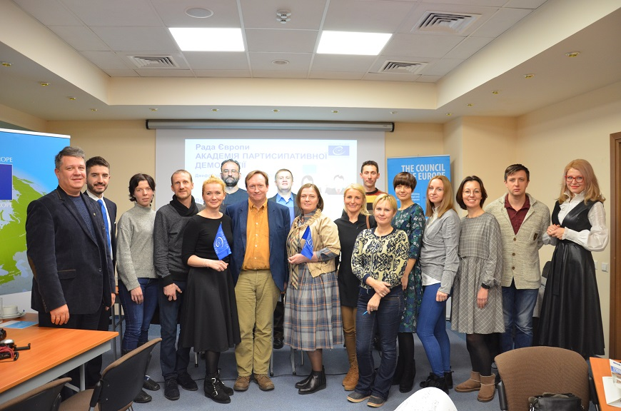Council of Europe continues promoting civil participation in democratic decision-making in Ukraine
