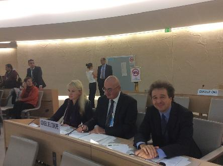 The Council of Europe delegation participated at the Human Rights Council Inter-active dialogue on Ukraine
