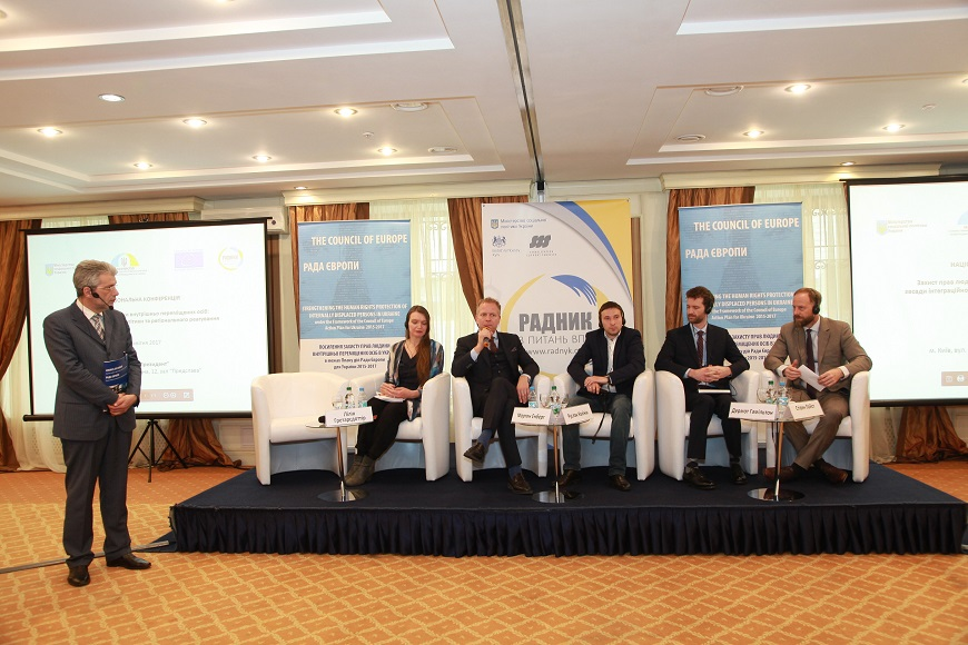 "National Conference ""Protection of human rights of internally displaced persons: integration policy on national and regional levels"" was organised on April 25, 2017 in Kyiv, Ukraine"