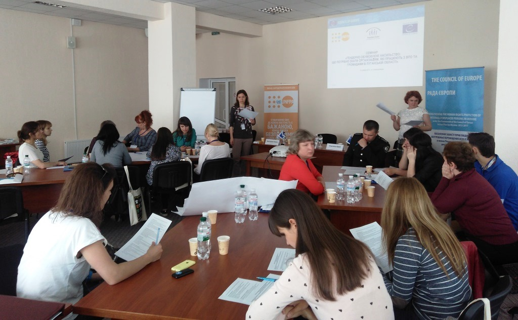"Workshops ""Gender-based violence: what the organizations working with IDPs and host communities should know"" held in Severodonetsk, Kramatorsk and Dnipro."