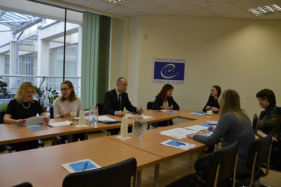 "The working sub-group meeting on confirmation of civil status and agreements, and recognition of relevant legal facts held on 2 March 2017 was supported by the Council of Europe Project ""Strengthening the human rights protection of internally displaced persons in Ukraine"""