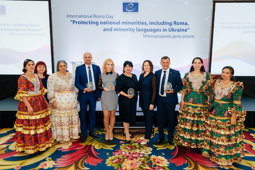 "Within the framework of the Council of Europe Office in Ukraine project ""Protection of national minorities, including Roma and minority languages in Ukraine"" conducted a reception on the occasion of the International Roma Day in Kyiv"