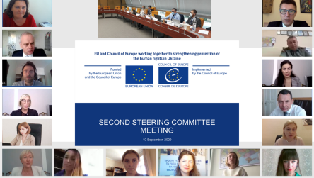 "Second Steering Committee Meeting of the Project ""EU and Council of Europe working together to strengthening protection of the human rights in Ukraine"" took place"