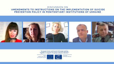 SPERU project team together with national partners discussed amendments to Instructions on implementation of suicide prevention policy in penitentiary institutions of Ukraine