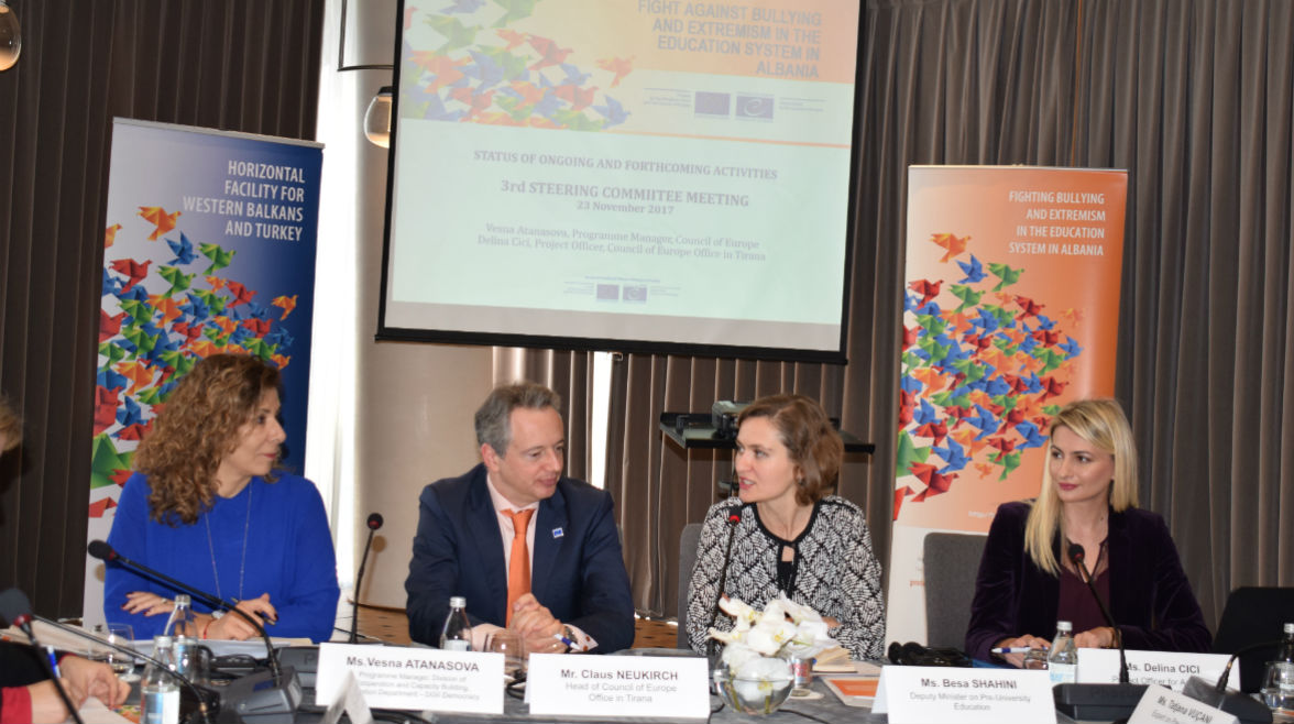 3rd Steering Committee Meeting of the Action on Bullying and Extremism in the Education System in Albania