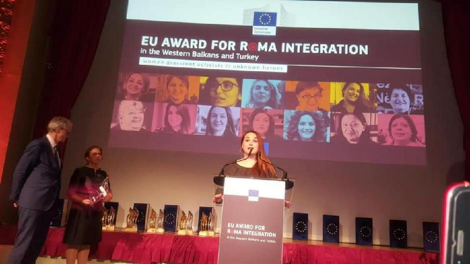 "ROMACTED facilitator receives the ""Unknown Heroes"" EU Award for Roma Integration in the Western Balkan and Turkey"