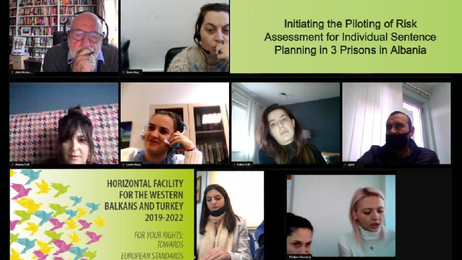 Initiating the Piloting of the Risk and Needs Assessment tools for Individual Sentence Planning in three Albanian prisons