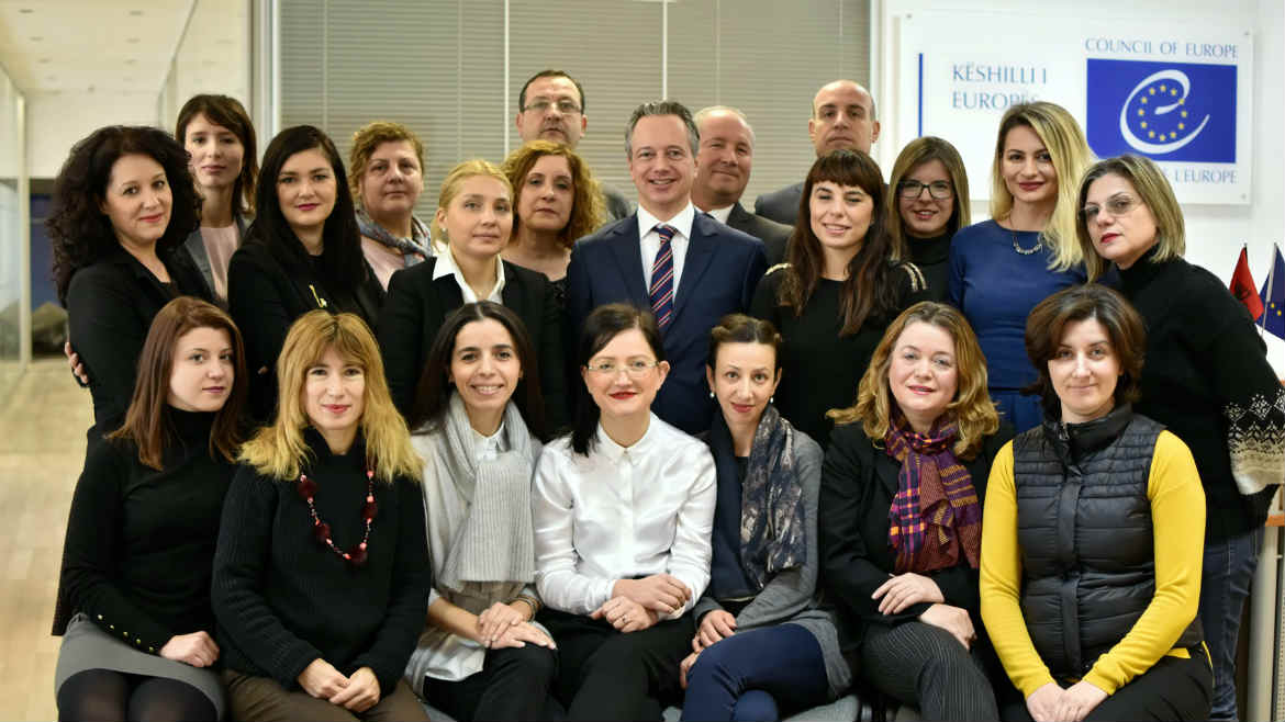 Staff of the Council of Europe Office in Tirana