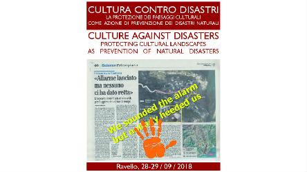 "International Conference on ""Culture against disasters : protecting cultural landscape as prevention of natural disasters"""
