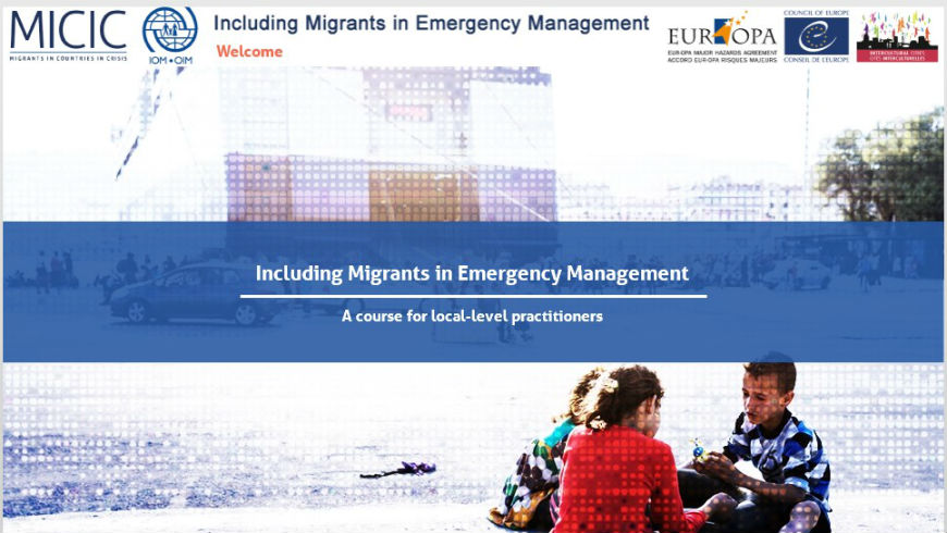 Including migrants in emergency management: a course for local-level practitioners