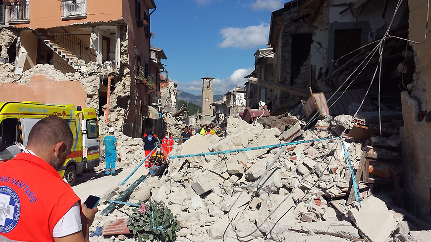 Earthquake in Italie