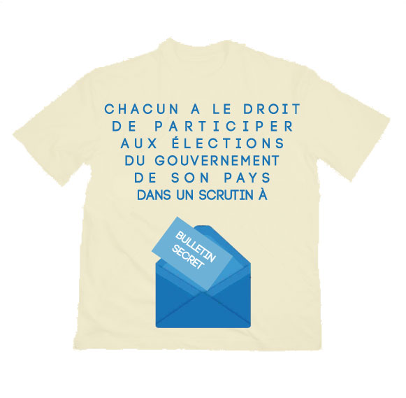 T-shirt Article 3 du Protocole N°1