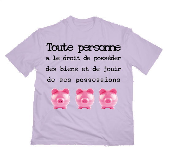 T-shirt Article 1 du Protocole N°1