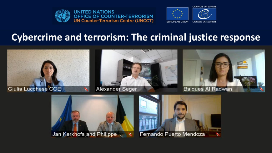 GLACY+: Webinar on Cybercrime and terrorism: The criminal justice response