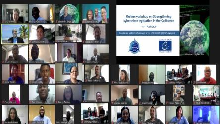 New series of online meetings was launched by Council of Europe, CARICOM and US Department of Justice