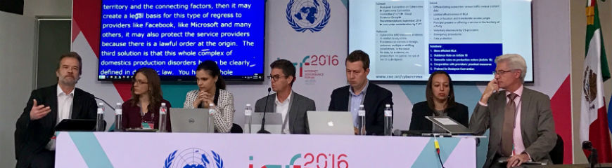 Council of Europe at the 2016 Internet Governance Forum