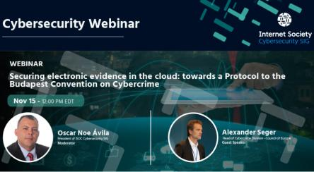 Webinar: Securing electronic evidence in the cloud: towards a Protocol to Budapest Convention on Cybercrime
