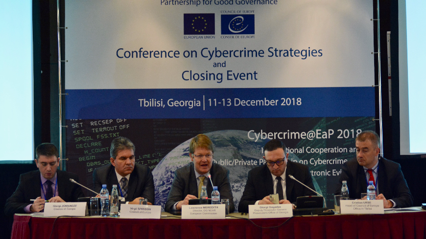 Cybercrime@EaP 2018: Regional Conference on Cybercrime Strategies and Closing Event of the Project held in Tbilisi
