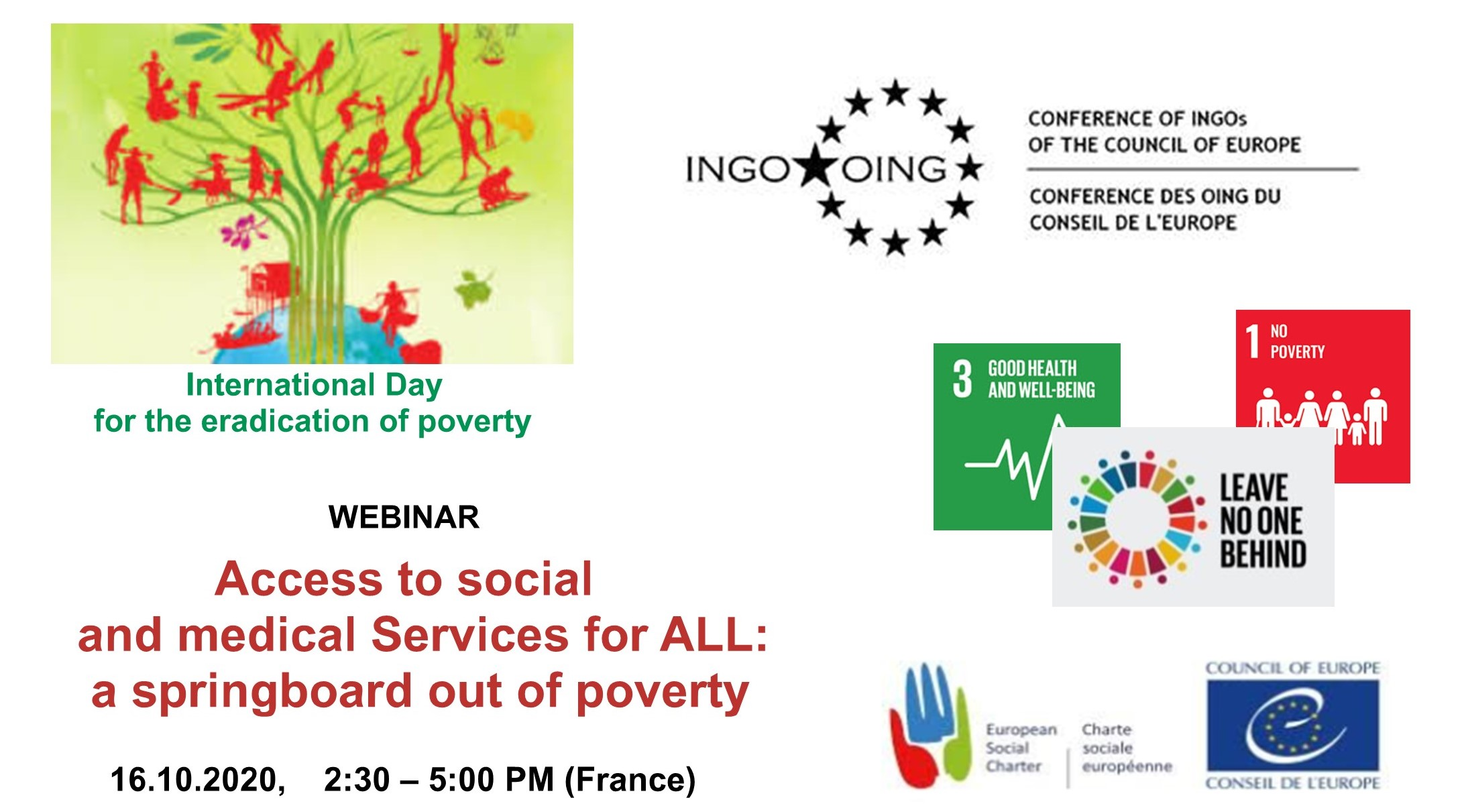 Webinar - International Day for the Eradication of Poverty