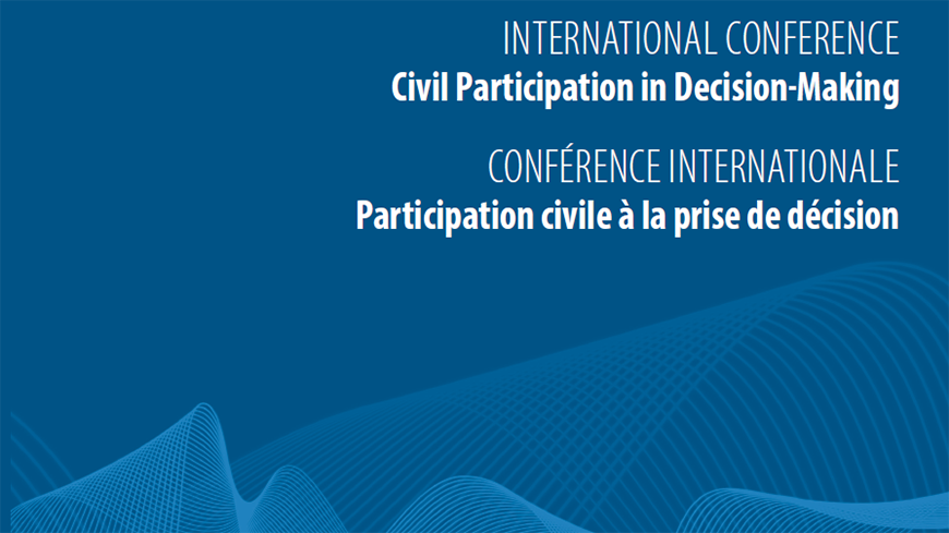 What are the challenges and innovative experiences in ensuring a meaningful civil participation in decision-making?