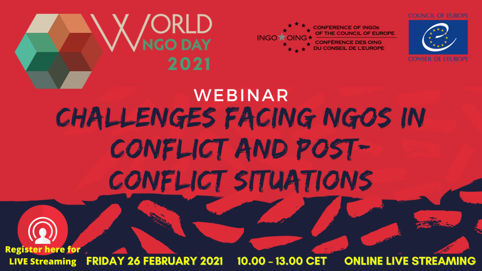 Watch the full webinar: Challenges Facing NGOs in Conflict and Post-Conflict Situations