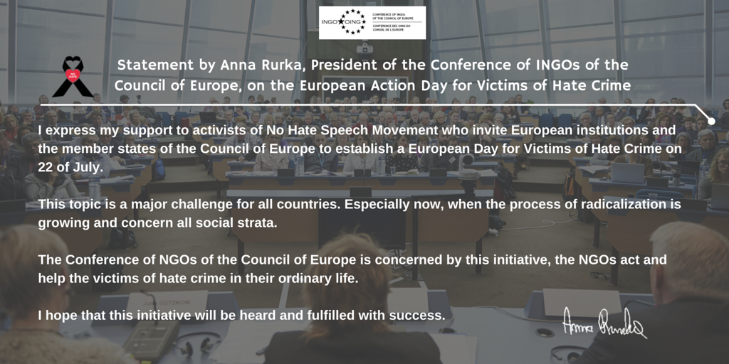 European day for the victims of hate crime