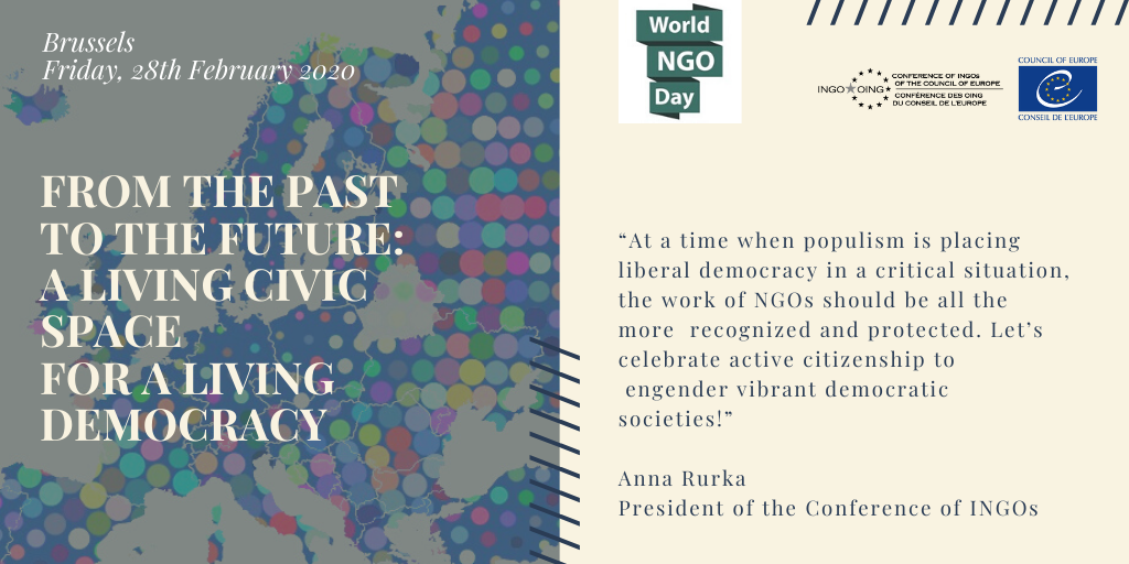 "World NGO Day - Seminar: ""From the Past to the Future: A Living Civic Space for a Living Democracy"""