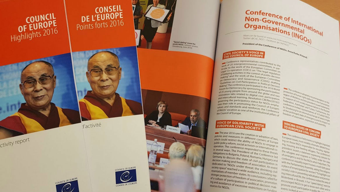 Council of Europe Highlights 2016