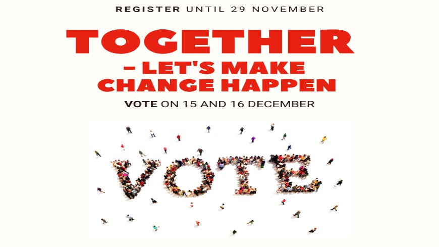 Register to vote and be part of the future