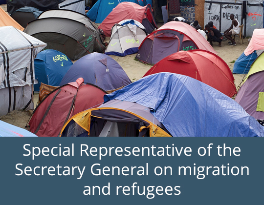 Link to Special Representative of the Secretary General on migration and refugees website