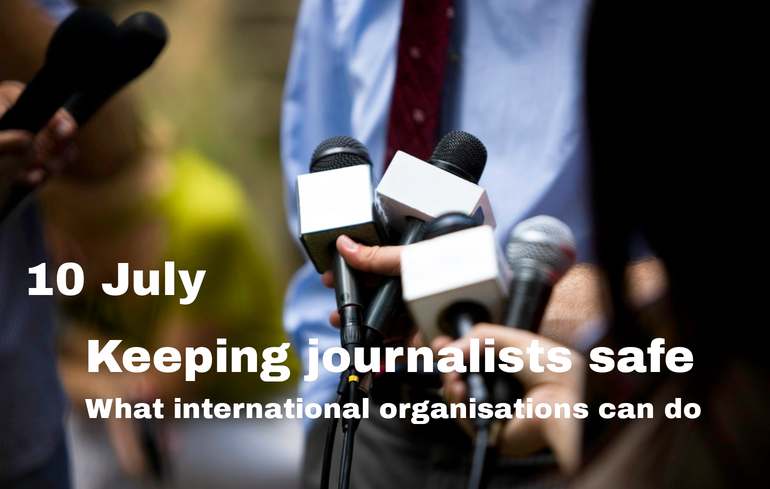 Protection and safety of journalists