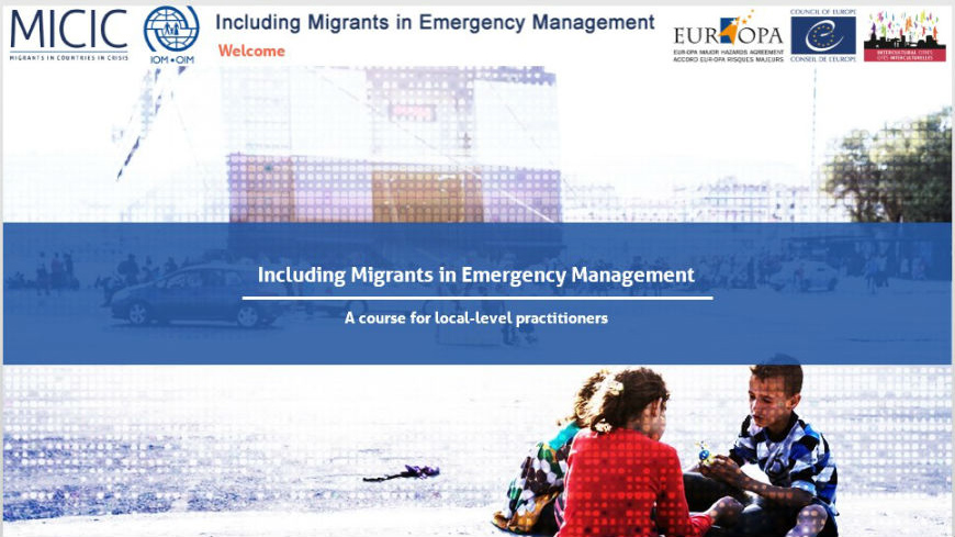 E-learning tool on Including migrants in emergency management: launch of the Italian version