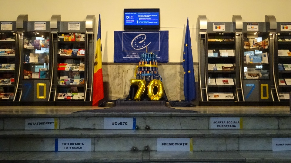 Exhibition celebrating 70 years of the Council of Europe history