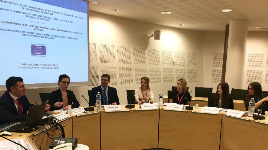 The Governmental Agent's Office of the Republic of Moldova participates in a study visit to the Council of Europe and the European Court of Human Rights
