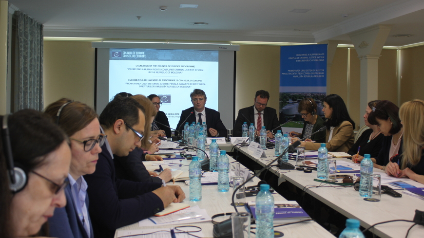 Council of Europe launches a new programme to continue supporting the reforms in the criminal justice field in the Republic of Moldova