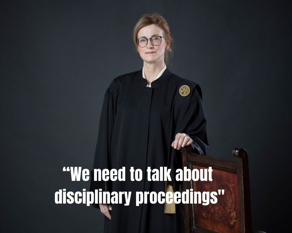 """We need to talk about disciplinary proceedings"