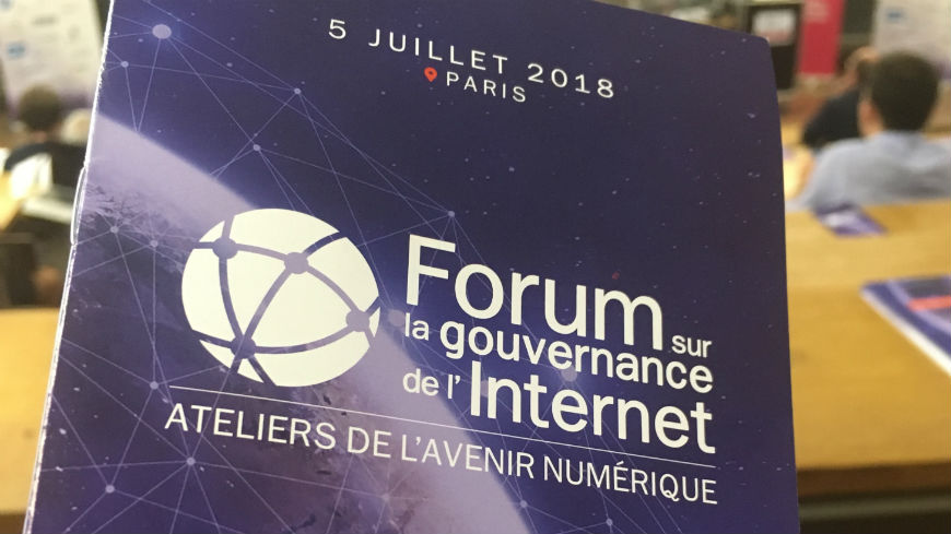 "Council of Europe invited to the French Forum on the Internet Governance under the topic ""taking back control"""