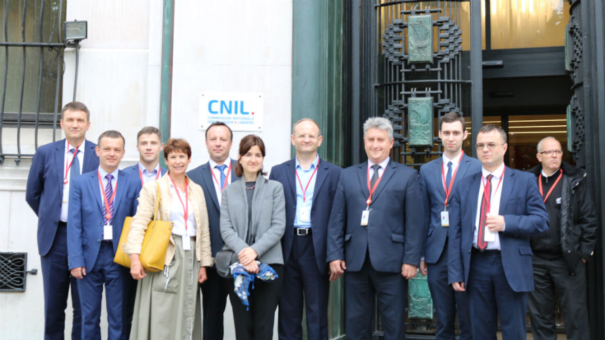 Belarus delegation in study visit at the French Data Protection Authority - CNIL