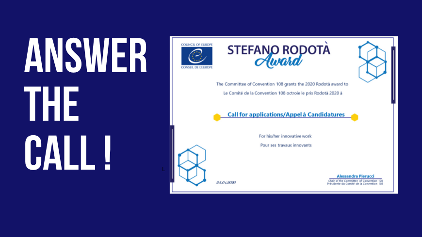 Apply for the Stefano Rodotà Award! – 2nd Edition