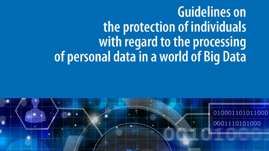 Big Data: we need to protect the persons behind the data
