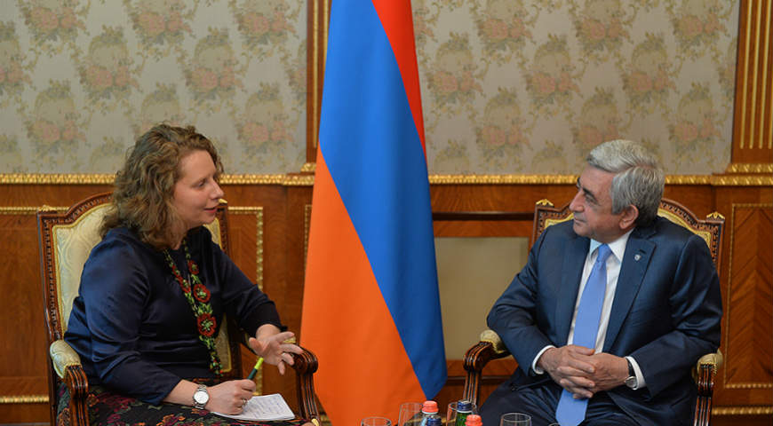 President of Armenia received the Head of the Council of Europe Office in Yerevan