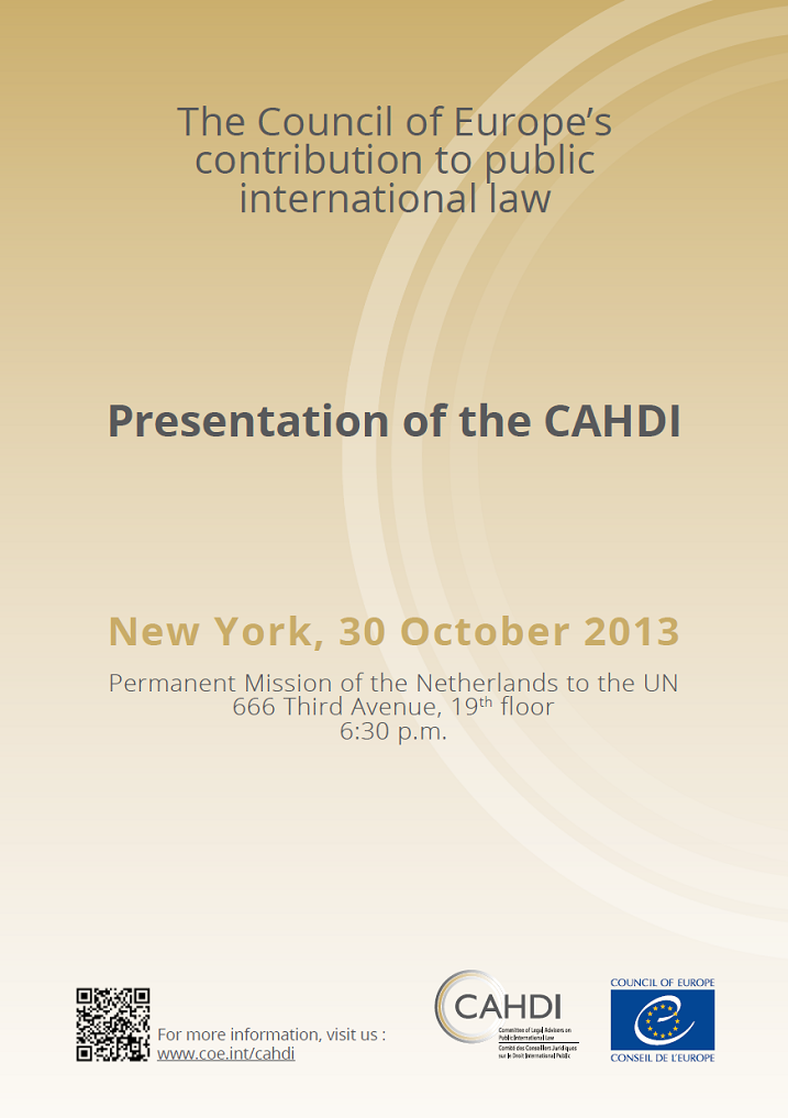 The CAHDI strengthens its ties with the Sixth Committee of the General Assembly of the United Nations