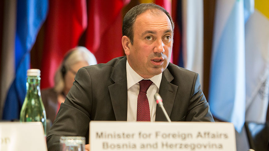 Council of Europe Chair Bosnia and Herzegovina to intensify co-operation with OSCE, says Foreign Minister Crnadak