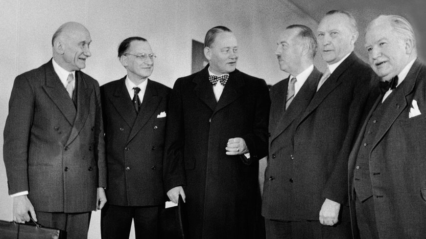 These builders of Europe were the people who launched the process of European construction by founding the Council of Europe in 1949