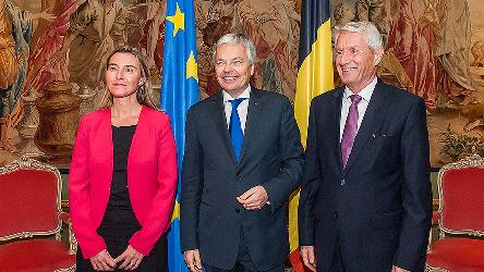 Thorbjørn Jagland in Brussels