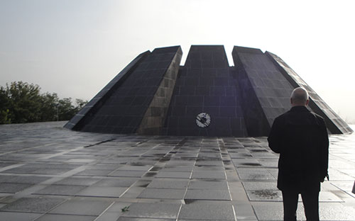 Armenian Genocide Memorial Monument in Yerevan
