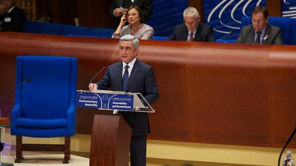 "02.10.2013 - Serzh Sargsyan: ""Armenia has achieved genuine progress"""