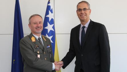 Head of Office of the Council of Europe in Sarajevo meets with the COM EUFOR