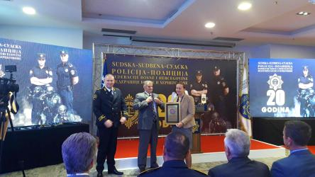 Twenty years of Court Police of the Federation of BiH celebrated with improvements in the human rights record among its professionals